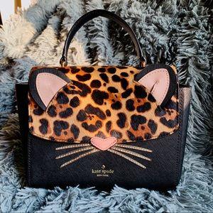 NWOT Kate Spade Leopard Cat Satchel